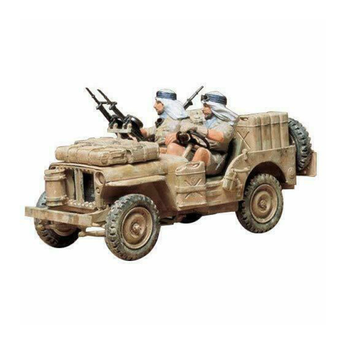 1:35 Special Air Service Jeep Construction Kit - British Army Wagon Plastic Hobby DIY Model 35033