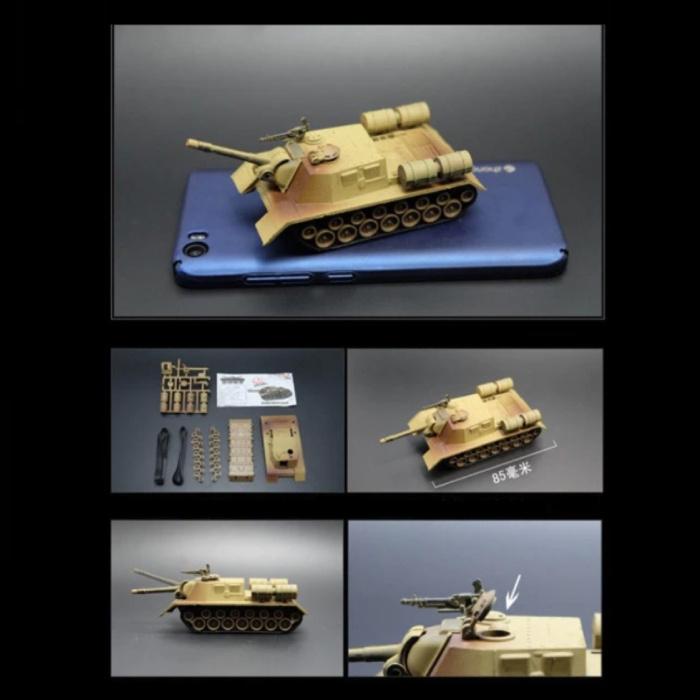 ISU-152 Construction Kit 1:72 Scale Model - Russian Army Tank Plastic Hobby DIY Model