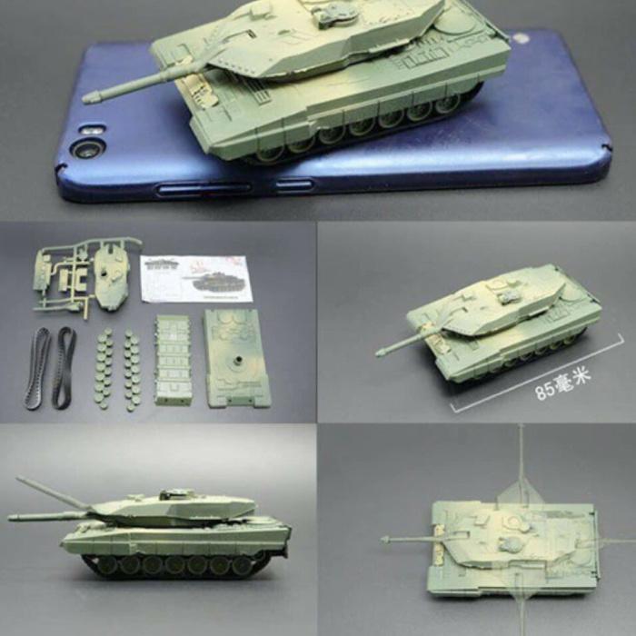Kit de construction Leopard 2A5 Maquette à l'échelle 1:72 - Modèle de bricolage en plastique pour réservoir de l'armée allemande