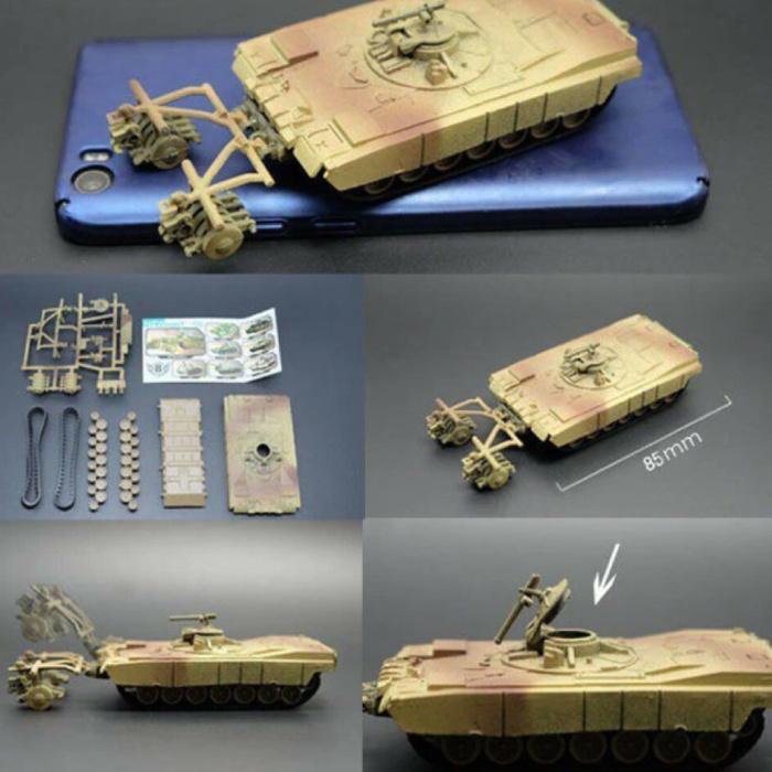 M1 Abrams Build Kit Modèle à l'échelle 1:72 - Modèle de bricolage en plastique pour réservoir de l'armée américaine