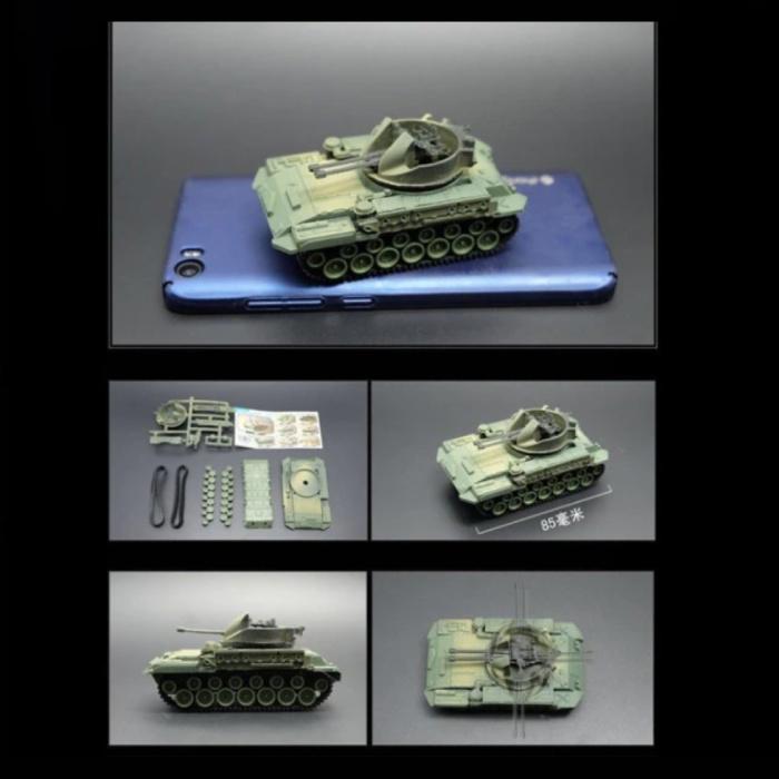 M42 Duster Build Kit Modèle à l'échelle 1:72 - Modèle de bricolage en plastique pour réservoir de l'armée américaine