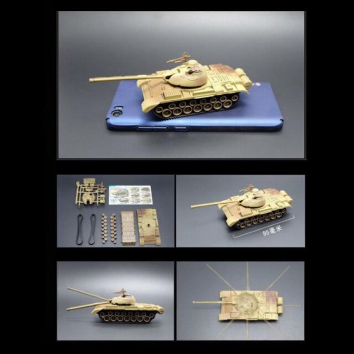 Kit de construction T-55A Maquette à l'échelle 1:72 - Modèle de bricolage en plastique pour char de l'armée allemande