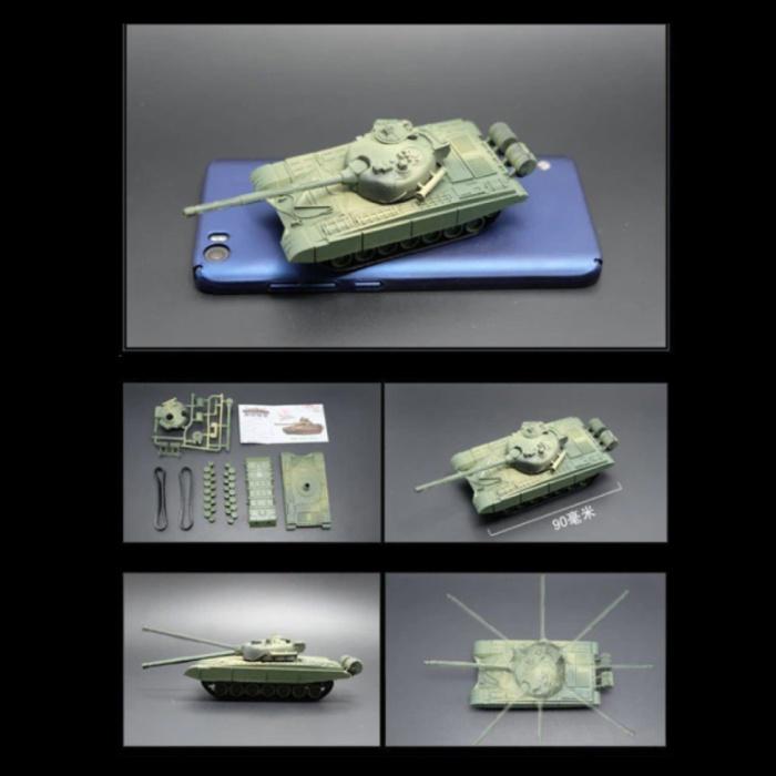 Kit de construction de char de combat principal Type 98 Maquette à l'échelle 1:72 - Modèle de bricolage en plastique pour char de l'armée chinoise