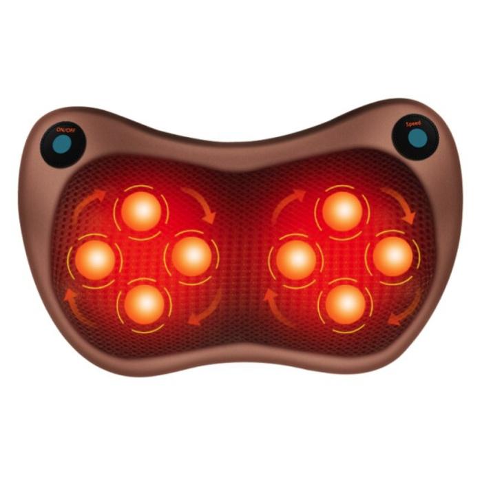 Oreiller de massage électrique - Épaule Cou Corps Chauffage infrarouge - Sports et détente