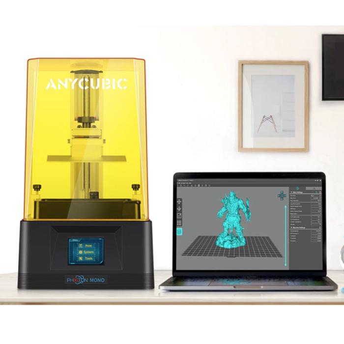 """Imprimante 3D Mono Photon avec écran LCD monochrome 2K de 2,8"""" - Vitesse d'impression élevée / Zone d'impression moyenne / Haute précision / Cadre robuste"""
