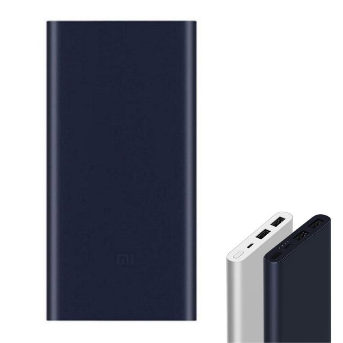 Mi Powerbank 2 - 10 000 mAh avec 2 ports de charge - État de la batterie LED Chargeur de batterie d'urgence externe Bleu