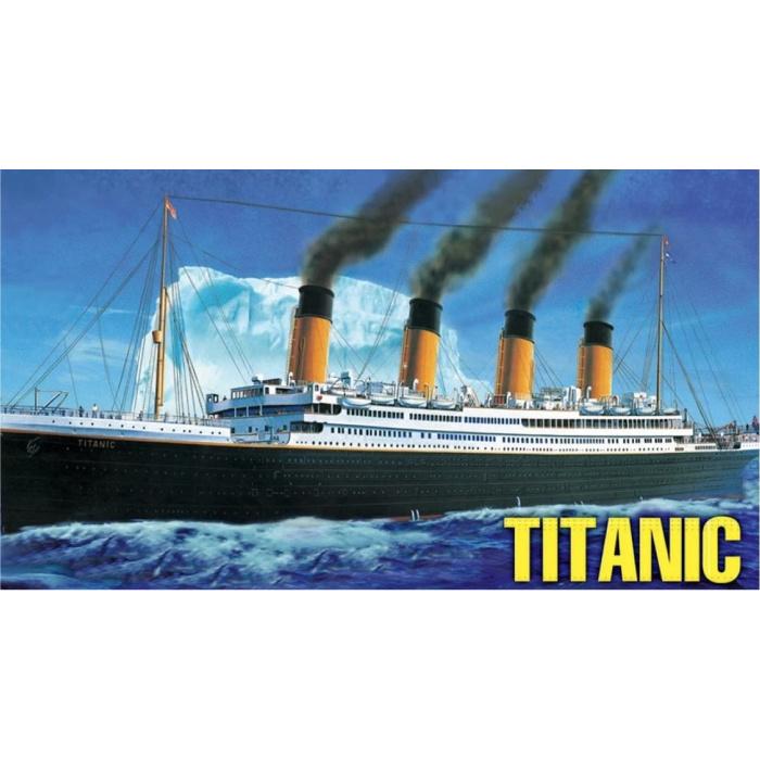 Bateau de croisière Titanic à l'échelle 1:550 - Kit de construction Bateau en plastique Hobby DIY Modèle 81305