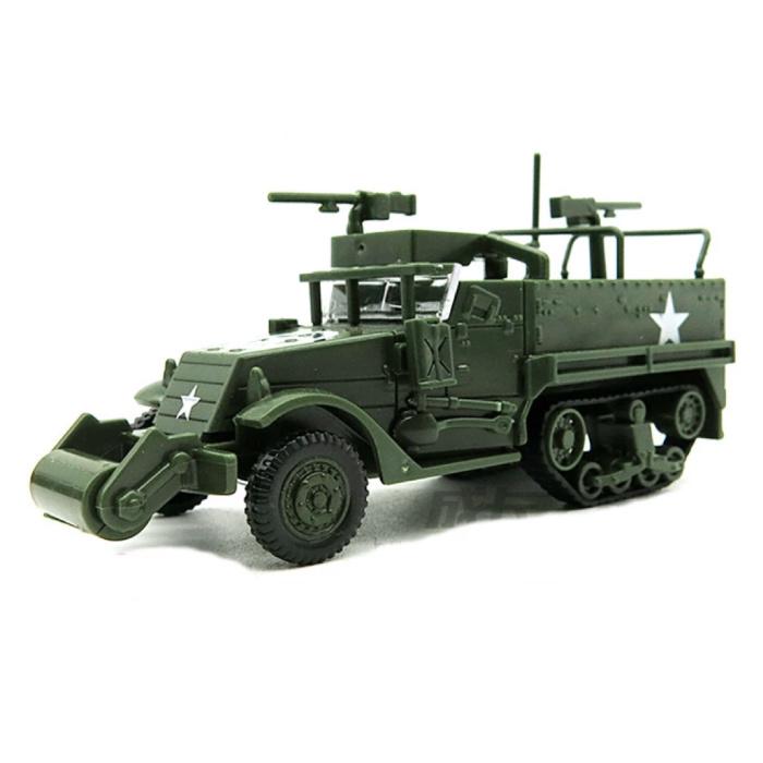 1:72 M3A1 Half-Track Jeep Bouwkit - Amerikaanse Leger Wagen Plastic Hobby Doe-het-zelf Model Groen