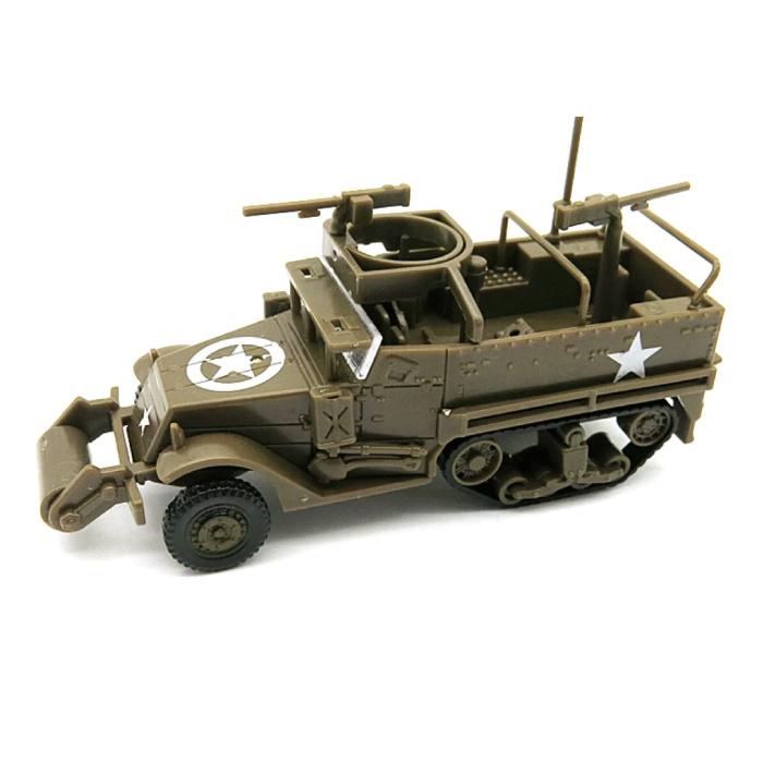1:72 M3A1 Half-Track Jeep Construction Kit - US Army Wagon Plastic Hobby DIY Model Brown