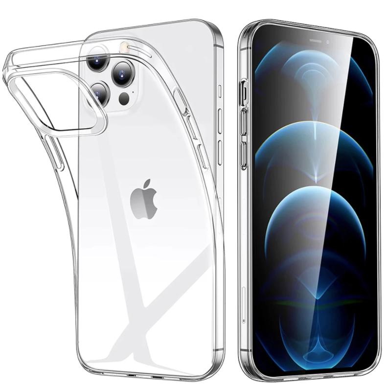 iPhone 13 Pro Max Transparent Clear Case Cover Silicone TPU Case