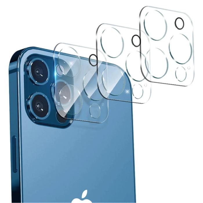 Pack de 3 étuis pour objectif d'appareil photo en verre trempé pour iPhone 13 - Protection antichoc
