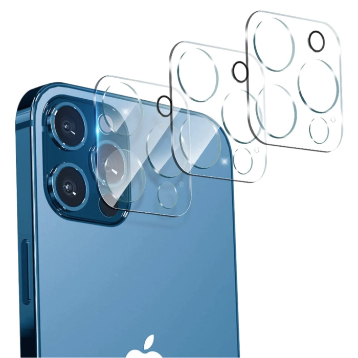 3-Pack iPhone 13 Pro Tempered Glass Camera Lens Cover - Shockproof Case Protection