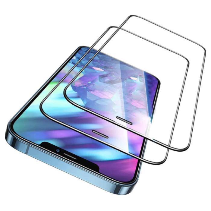 Lot de 2 protections d'écran de confidentialité pour iPhone 13 Mini - Couverture complète - Film de verre trempé Lentille en verre trempé