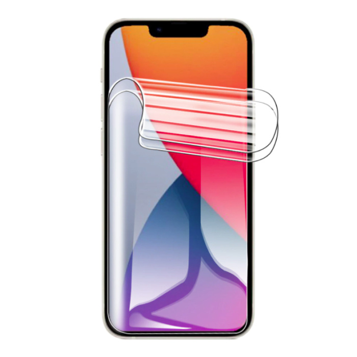 3-Pack Screen Protector iPhone 13 Hydrogel Foil Foil PET Foldable Protective Film Film
