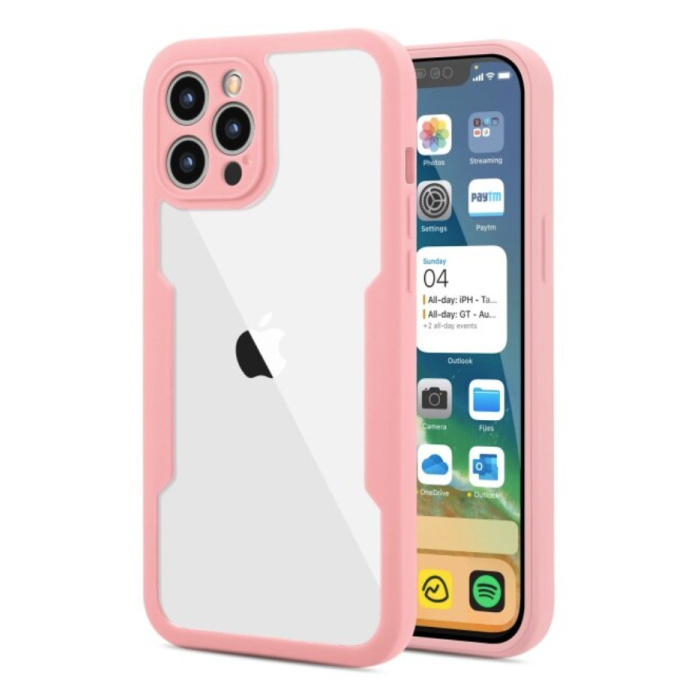 iPhone 13 Pro Max 360° Full Cover - Full Body Case Case + Screen Protector Pink