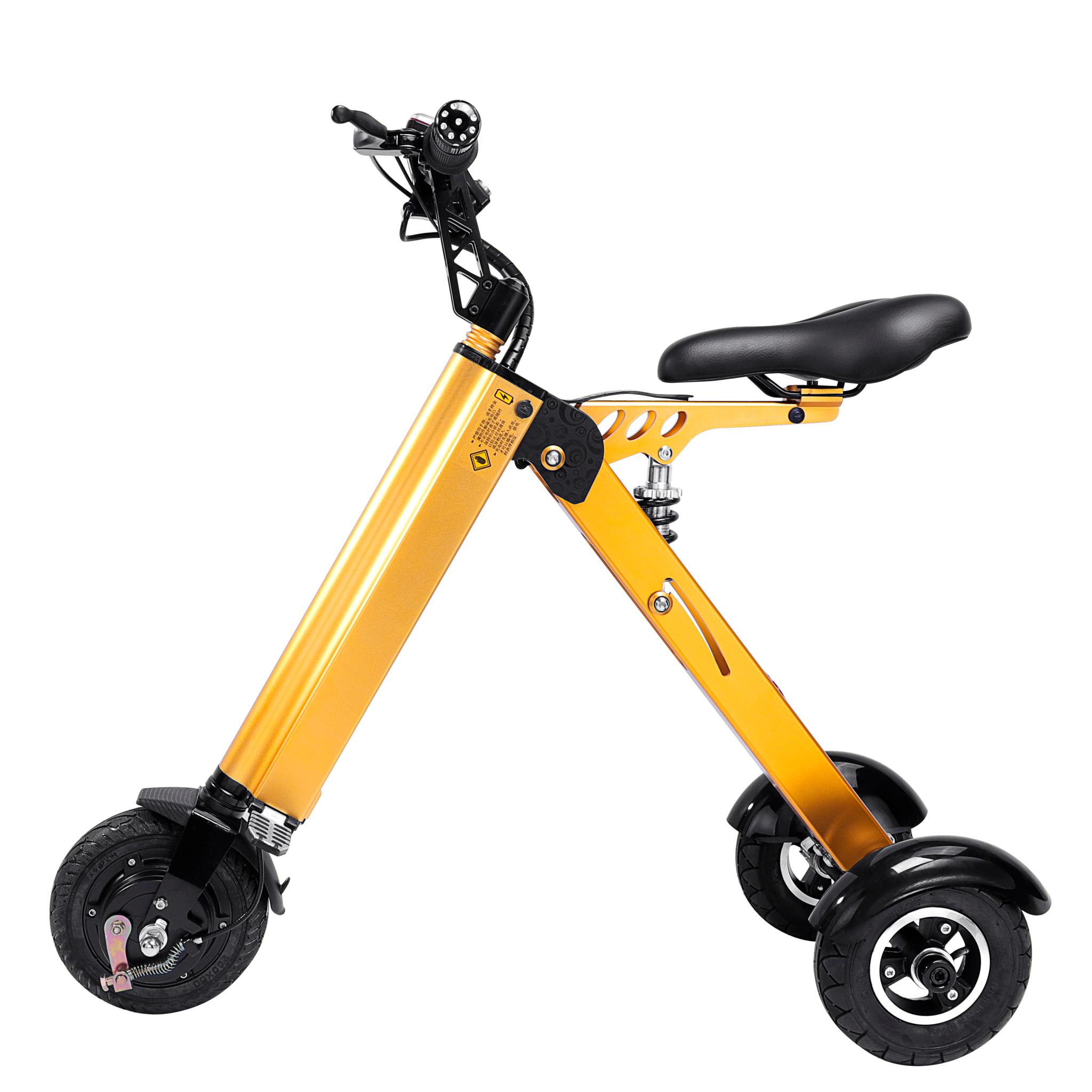 Ultra-light Electric Folding Smart e Scooter - 250W - 8 inch - 3 wheels - Pearl gold