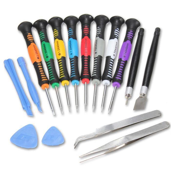 Kit complet d'outils Outils Pro 16 en 1 Outils Tournevis Jeu de tournevis - Pour Apple iPhone 4 4S 5 5S 5C 6 6+ 6S + 7 7+ 8 8+ X Plus