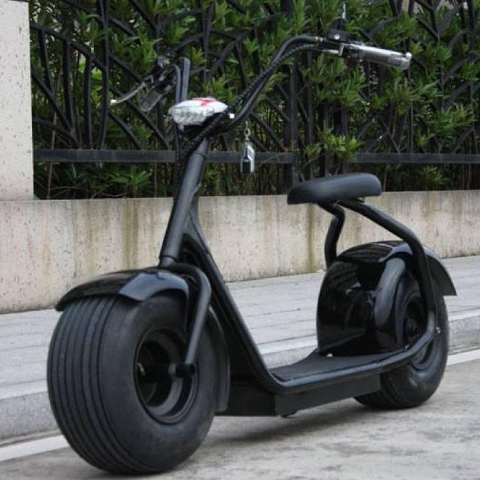 "Citycoco Elektrische Smart E Scooter Pro Harley - 18"" - 1000W - 12Ah - Zwart"