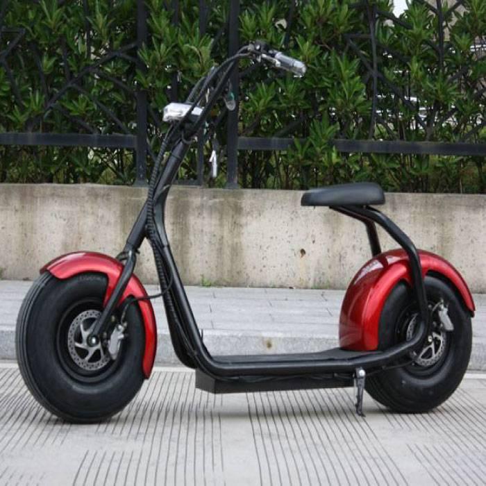 """Ville Coco Smart électrique e Scooter Pro Harley - 18"""" - 1000W - 12Ah - Rouge"""