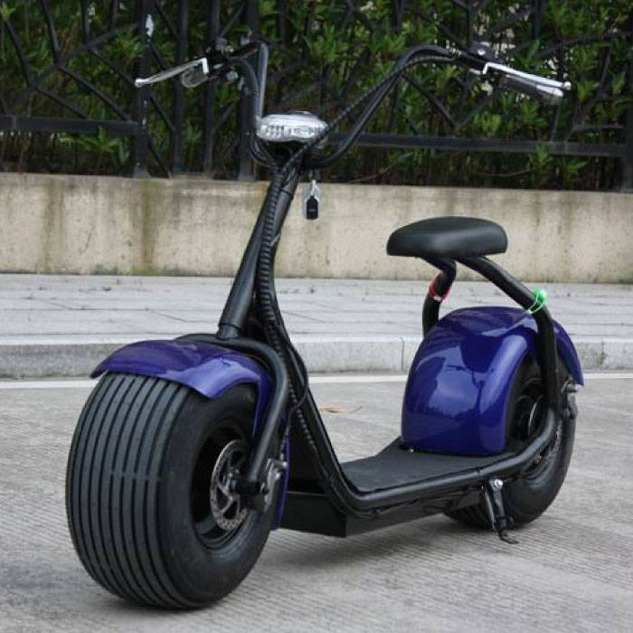 "City Coco Smart E Elektroroller Harley Pro - 18 ""- 1000W - 12Ah - Blau"