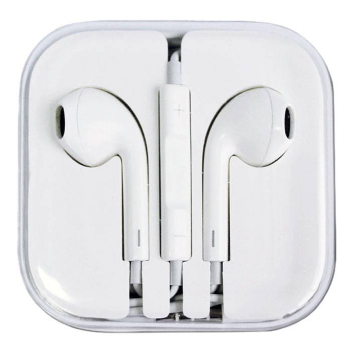 iPhone / iPad / iPod Ecouteurs intra-auriculaires Oreilles pods Ecouteur Blanc - Prise Clear Sound AUX