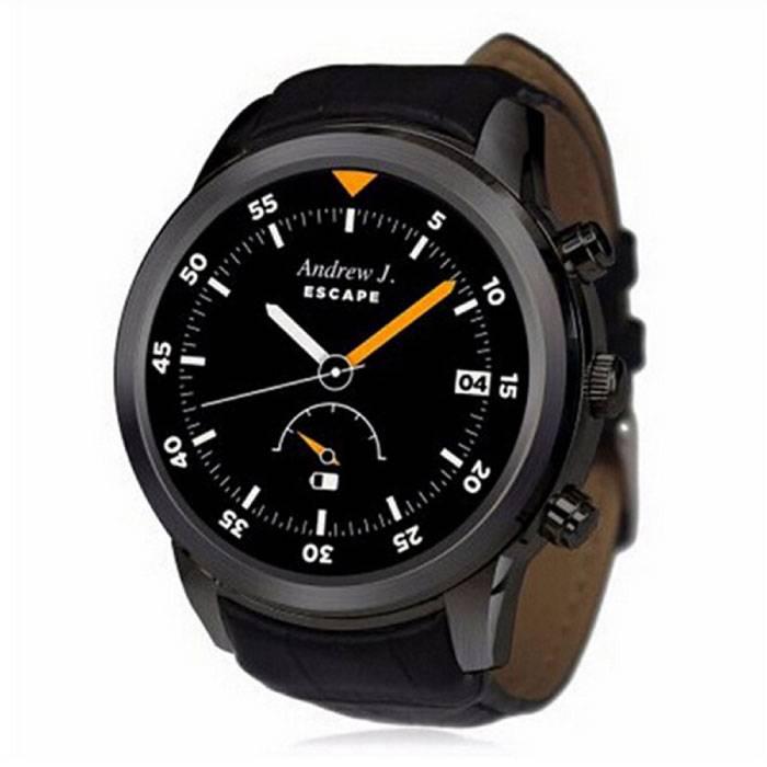 Originele K18 Plus Smartwatch Smartphone Fitness Sport Activity Tracker Horloge OLED Android iPhone Samsung Huawei Zwart