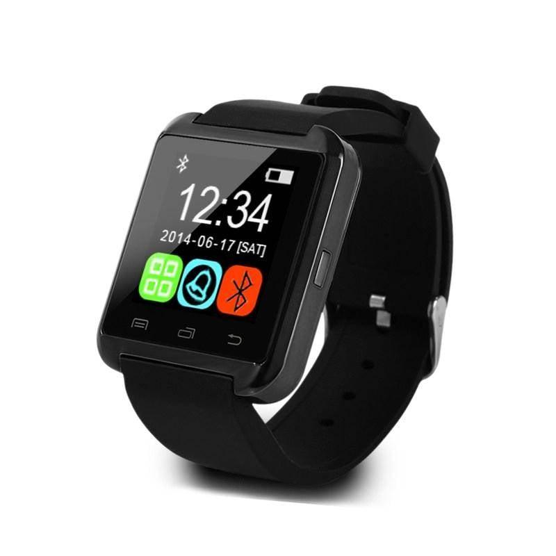 Original U80 Smartwatch Smartphone Fitness Sport Aktivität Tracker Uhr OLED Android iPhone Samsung Huawei Schwarz