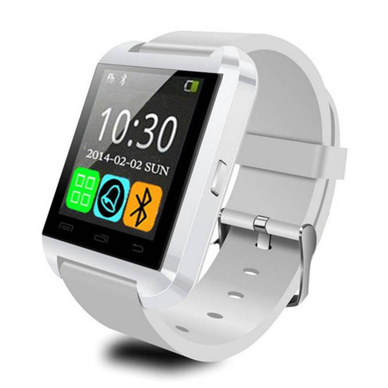 U80 originale SmartWatch Smartphone Fitness Sports Tracker activité Regarder OLED iPhone Android Samsung Huawei Blanc