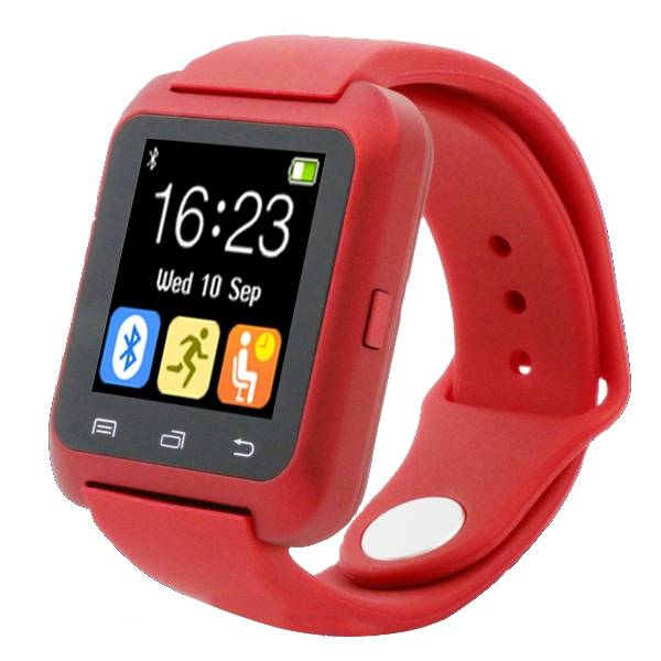 U80 originale SmartWatch Smartphone Fitness Sports Tracker activité Regarder OLED iPhone Android Samsung Huawei Red