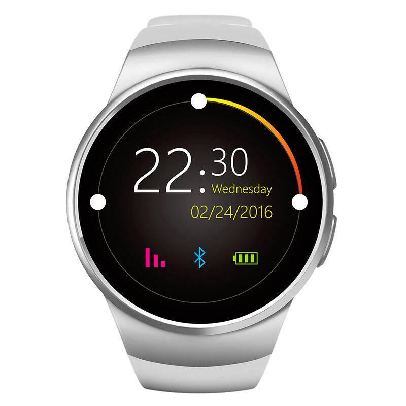 Original KW18 Smartwatch Smartphone Fitness Sport Aktivität Tracker Uhr OLED Android iOS iPhone Samsung Huawei Silber