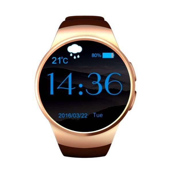 Originele KW18 Smartwatch Smartphone Fitness Sport Activity Tracker Horloge OLED Android iOS iPhone Samsung Huawei Goud
