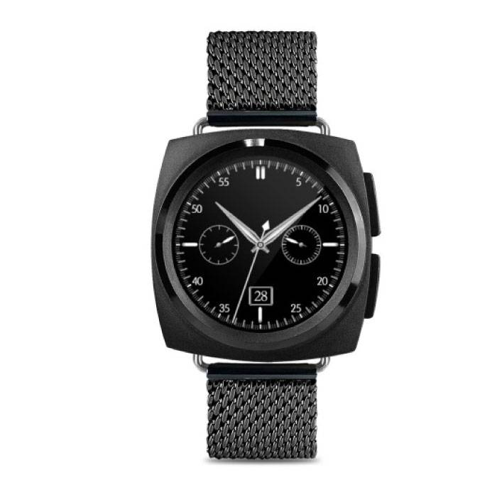 Original A11 SmartWatch Smartphone Fitness Sports Tracker activité Regarder OLED Android iOS iPhone Samsung Huawei Black Metal