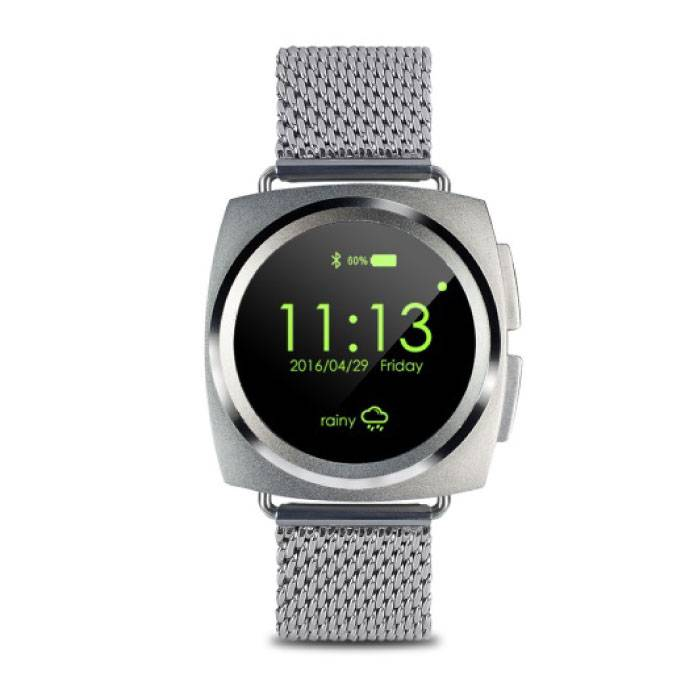 Original A11 SmartWatch Smartphone Fitness Sports Tracker activité Regarder OLED Android iOS iPhone Samsung Huawei Silver Metallic