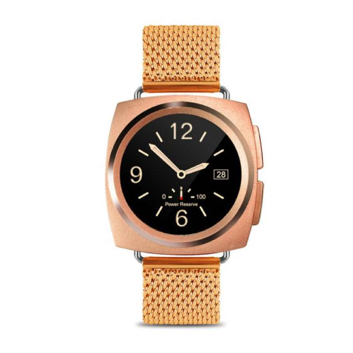 Originele A11 Smartwatch Smartphone Fitness Sport Activity Tracker Horloge OLED Android iOS iPhone Samsung Huawei Goud Metaal