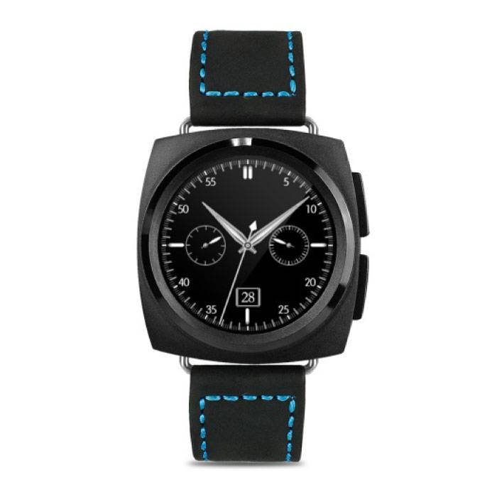 Original A11 SmartWatch Smartphone Fitness Sports Tracker activité Regarder OLED Android iOS iPhone Samsung Huawei en cuir noir
