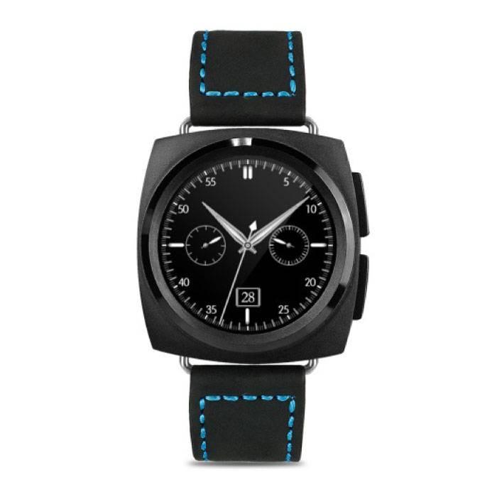 Originele A11 Smartwatch Smartphone Fitness Sport Activity Tracker Horloge OLED Android iOS iPhone Samsung Huawei Zwart Leer