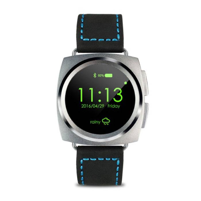 Original A11 Smartwatch Smartphone Fitness Sport Activity Tracker Watch OLED Android iOS iPhone Samsung Huawei Silver Leather