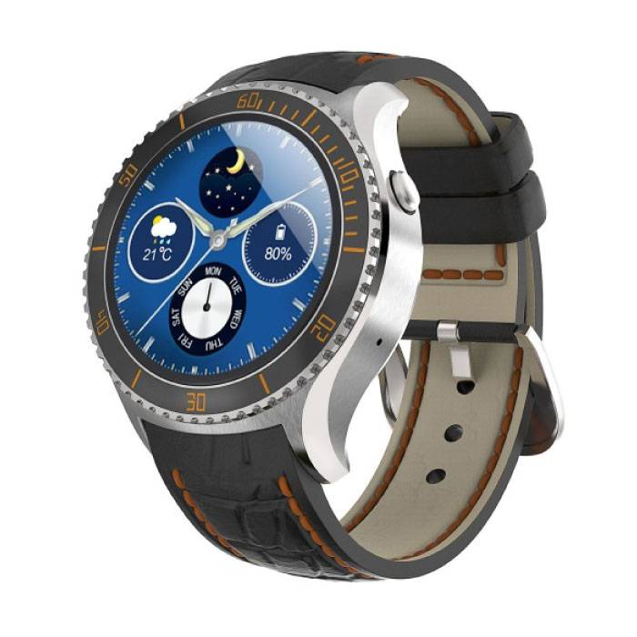 Original I2 Smartwatch Smartphone Fitness Sport Activity Tracker Watch OLED Android iOS iPhone Samsung Huawei Silver