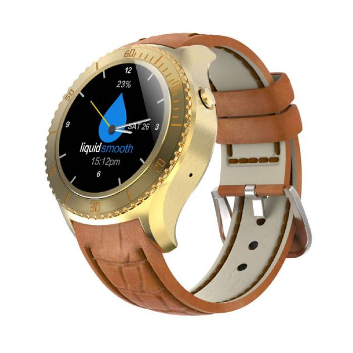 Originele I2 Smartwatch Smartphone Fitness Sport Activity Tracker Horloge OLED Android iOS iPhone Samsung Huawei Goud