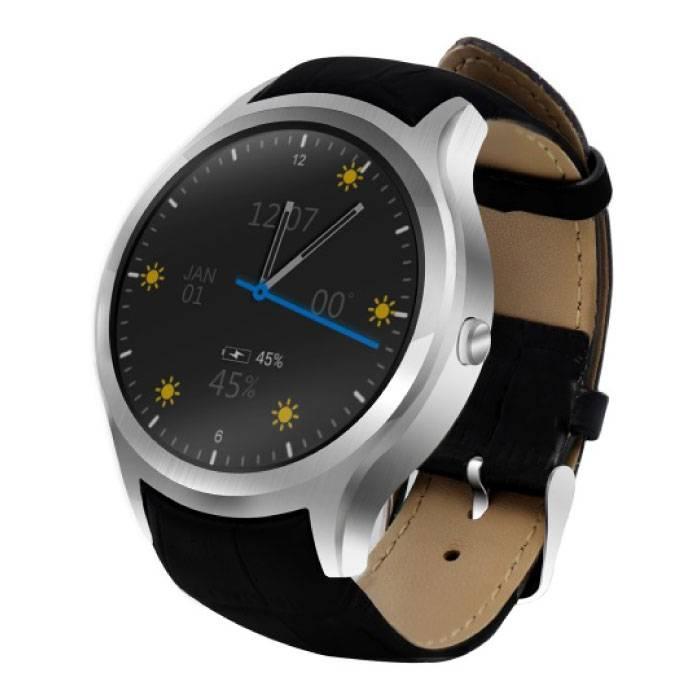 Originele D5 Smartwatch Smartphone Fitness Sport Activity Tracker Horloge OLED Android iPhone Samsung Huawei Zilver