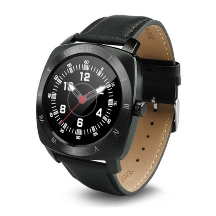Originele DM88 Smartwatch Smartphone Fitness Sport Activity Tracker Horloge OLED Android iOS iPhone Samsung Huawei Zwart Leer
