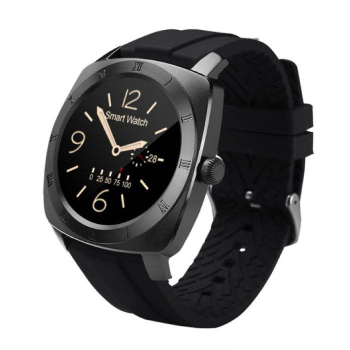 Originele DM88 Smartwatch Smartphone Horloge OLED Android iOS Zwart TPU