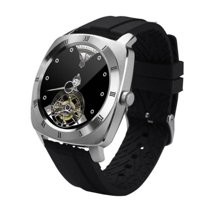 Originele DM88 Smartwatch Smartphone Horloge OLED Android iOS Zilver TPU