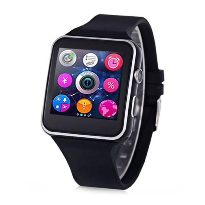 Originele X6 Smartwatch Smartphone Fitness Sport Activity Tracker Horloge OLED Android iOS iPhone Samsung Huawei Zwart