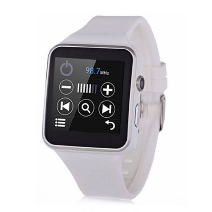 Original X6 Smartwatch Smartphone Fitness Sport Activity Tracker Watch OLED Android iOS iPhone Samsung Samsung Huawei Blanc
