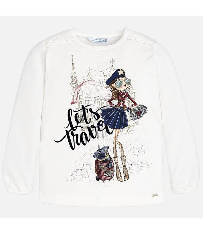 """Mayoral T-shirt """"Let's travel"""""""