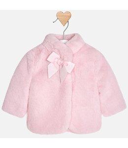 Mayoral Fur coat pink