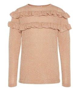 Name It Roze -gouden trui