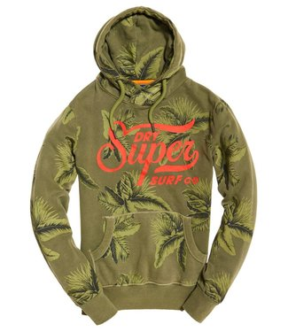 Superdry Supersurf co aop cross over hood groen M20003SQDS