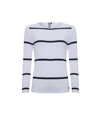 Poools Sweater stripe wit 813168